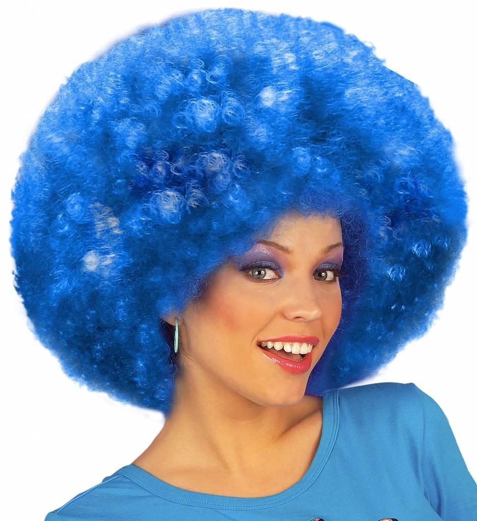 Pruik Jimmy Extra Krul Blauw