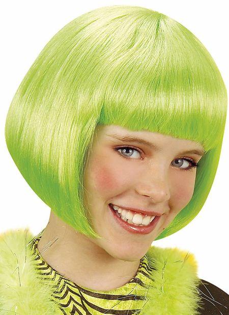 Pruik kind, jenny groen