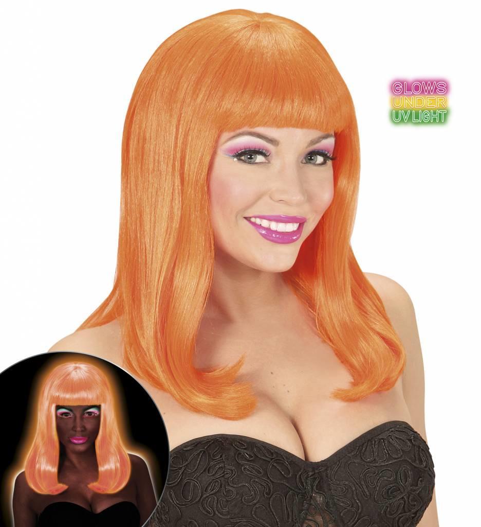 Pruik Patsy Neon Oranje