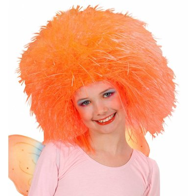 Pruik Fee Kind Neon Oranje