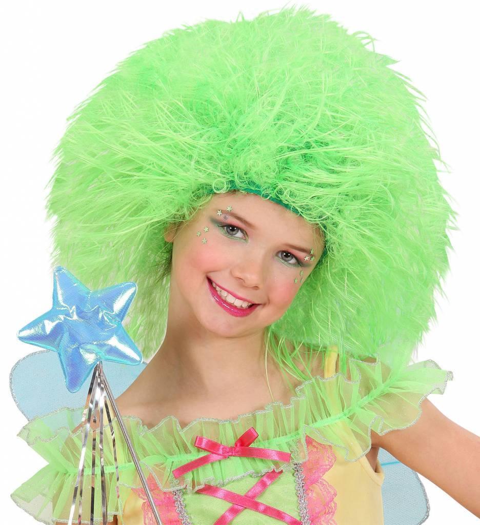 Pruik Fee Kind Neon Groen