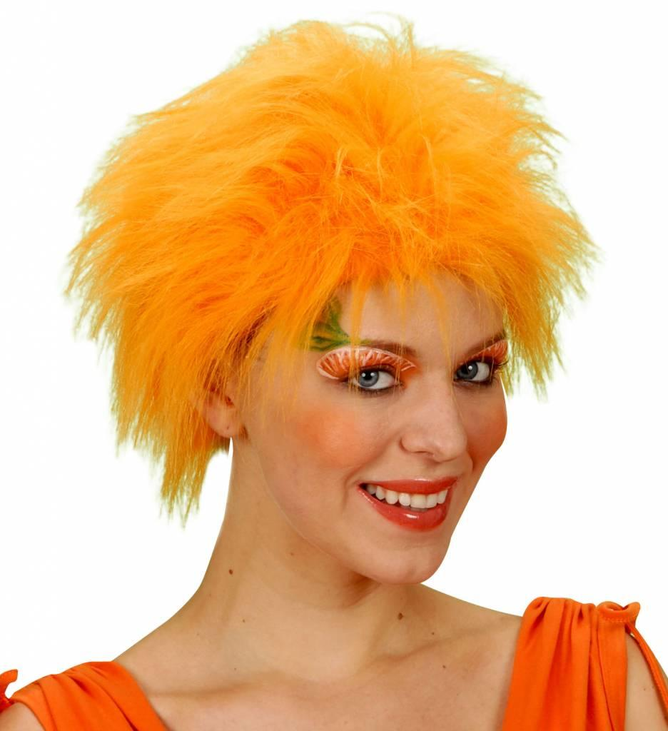 Pruik Pluche Oranje