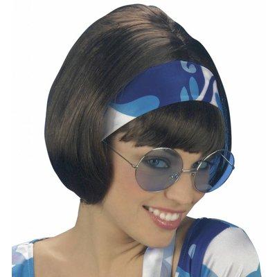 Pruik Party Girl 70'S Bruin (In Plastic Zak)