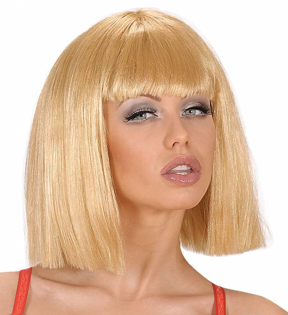 Pruik Crazy Horse Blond (In Plastic Zak)