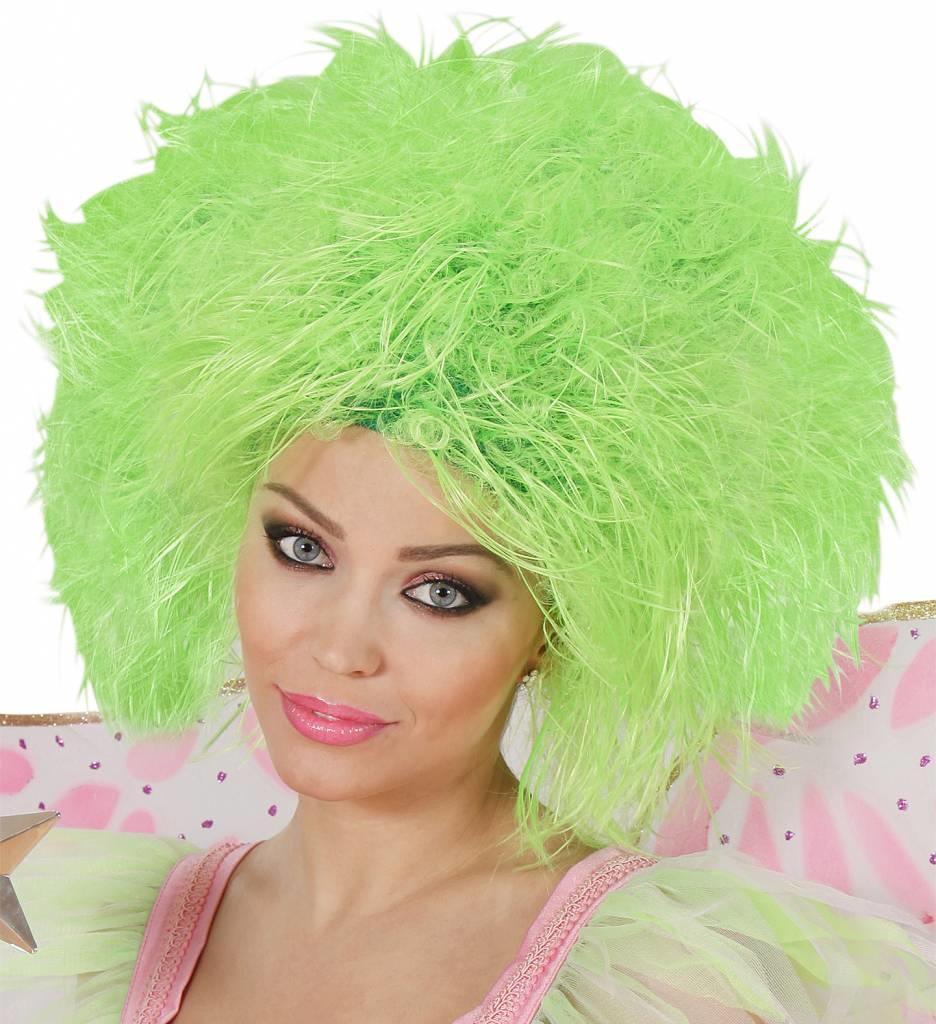 Pruik Fee Neon Groen