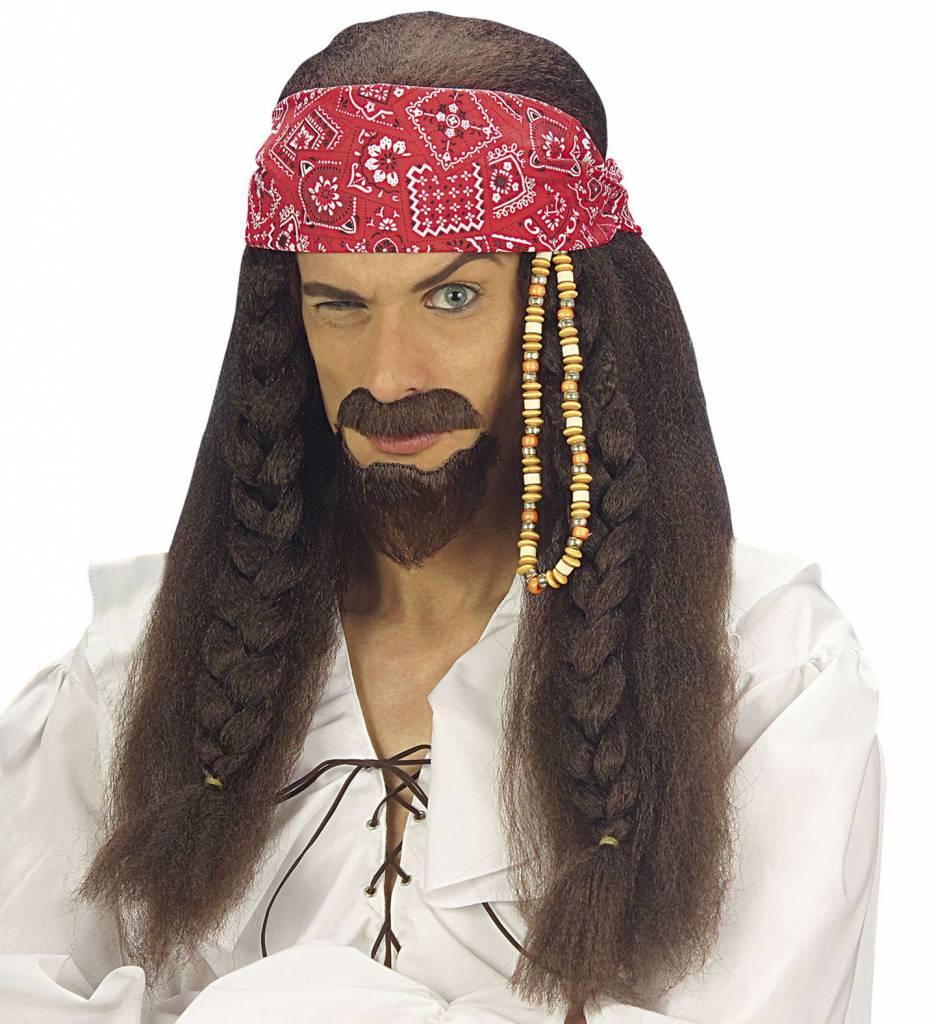 Pruik Caribbean Pirate (In Plastic Doos)