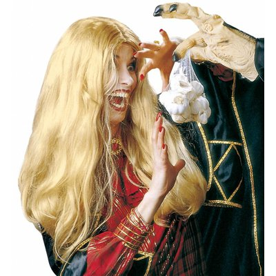 Pruik Heks Morgana Blond (In Plastic Doos)