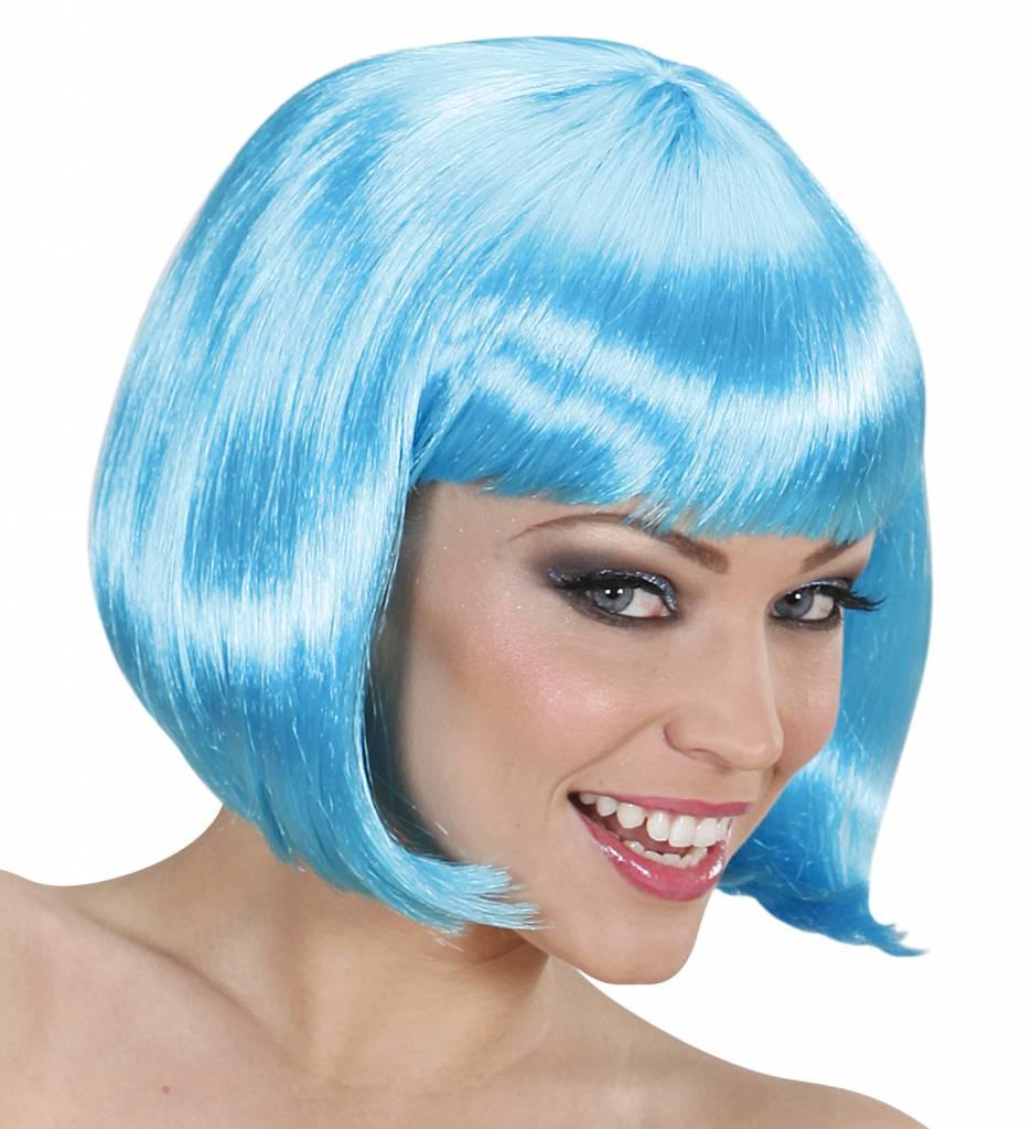 Pruik Lovely Azuur Blauw