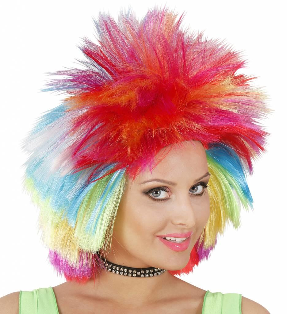 Pruik Punk Multi Kleuren