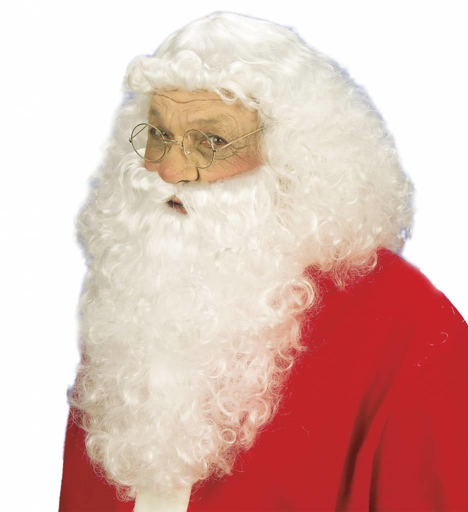Luxe Set Kerstman Pruik En Baard