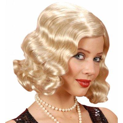 Pruik Roaring 20's Blond