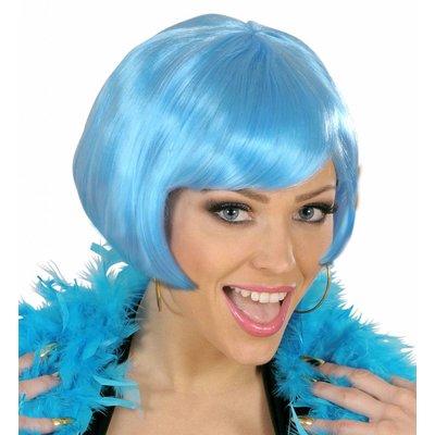 Pruik Valentina Lichtblauw