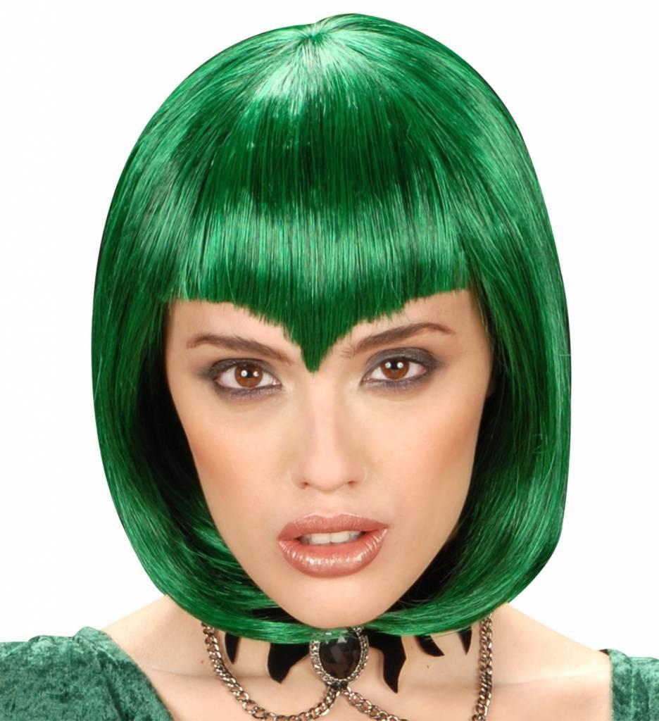 Pruik Gothic Vamp Groen