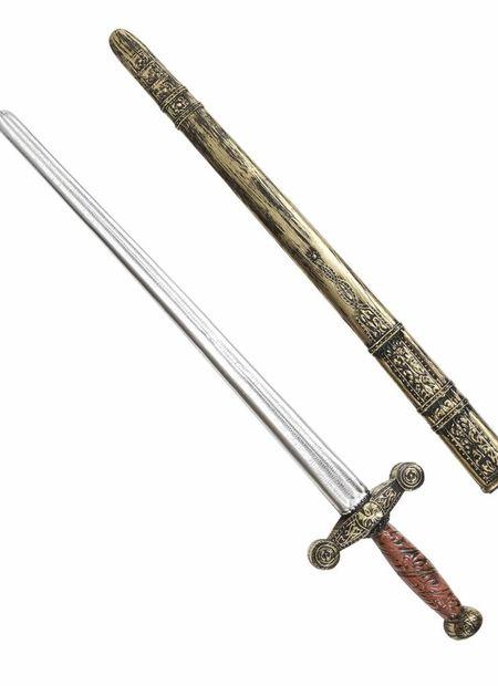 Oudheid ridderzwaard met schede