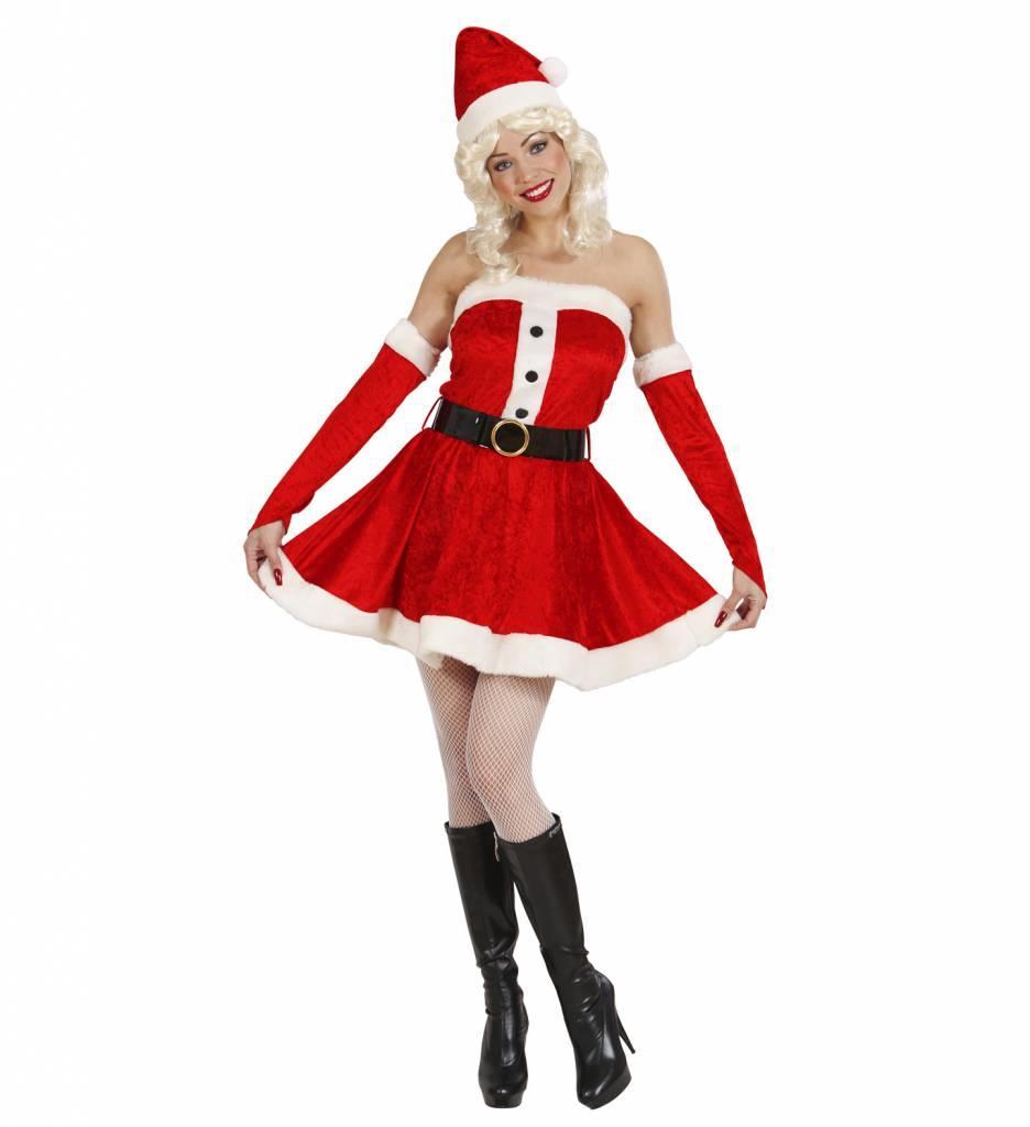 Miss Santa Fluweel (Jurk/Riem/Handschoene/Muts)