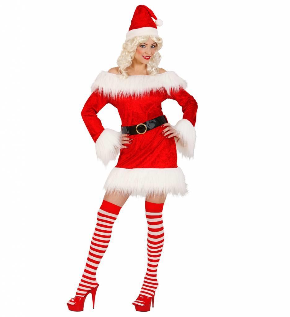 Miss Santa Fluweel/Plushe (Kostuum + Riem)