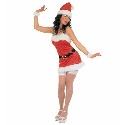 Sexy Kostuum Kerstvrouw Fluweel
