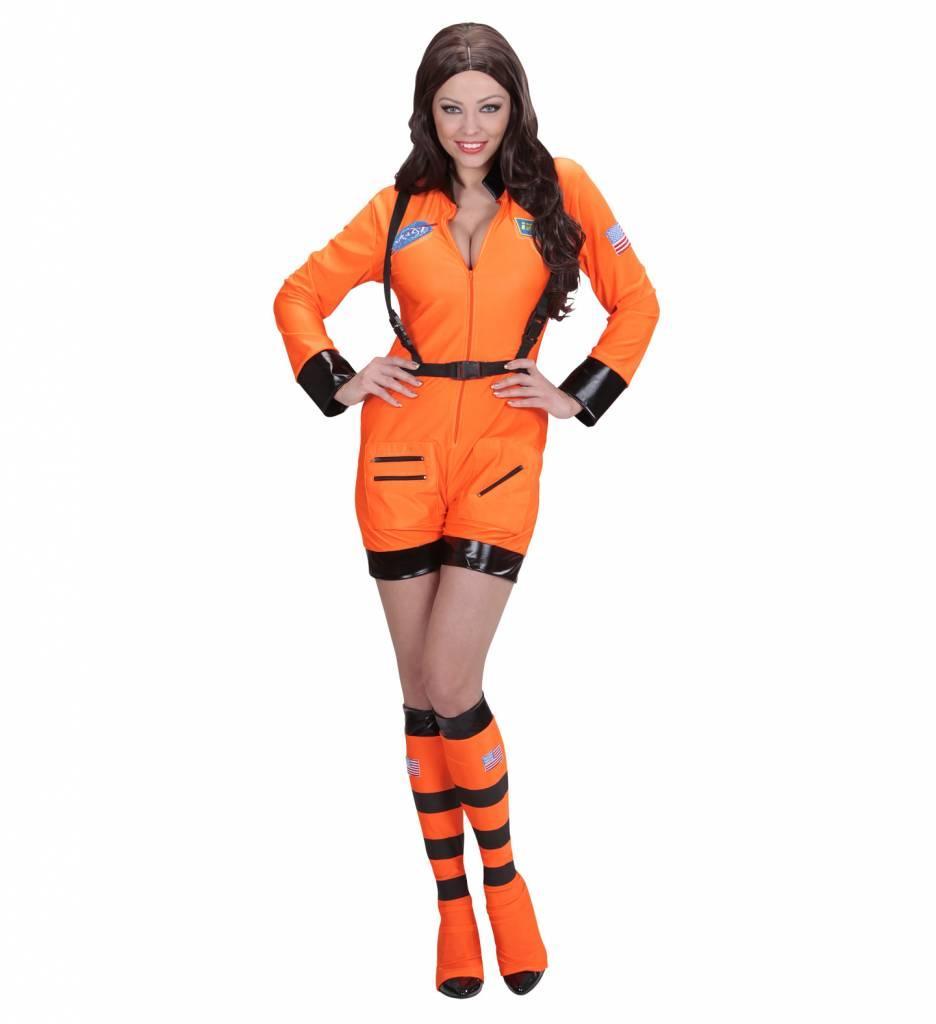 Astronautenpak Vrouw Oranje