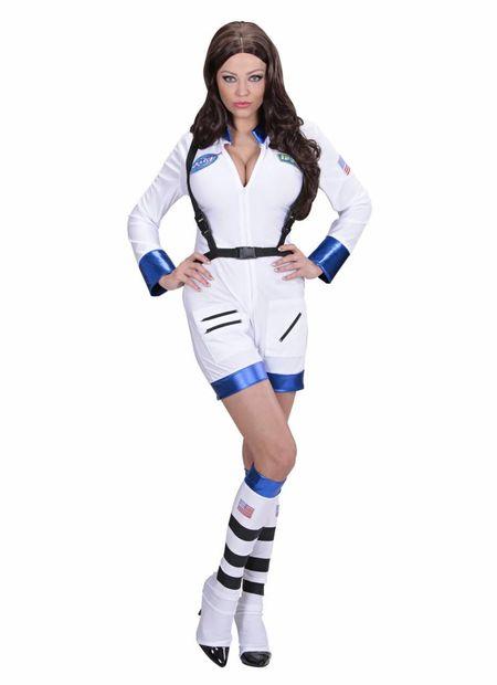 Vrouwelijke astronaute wit