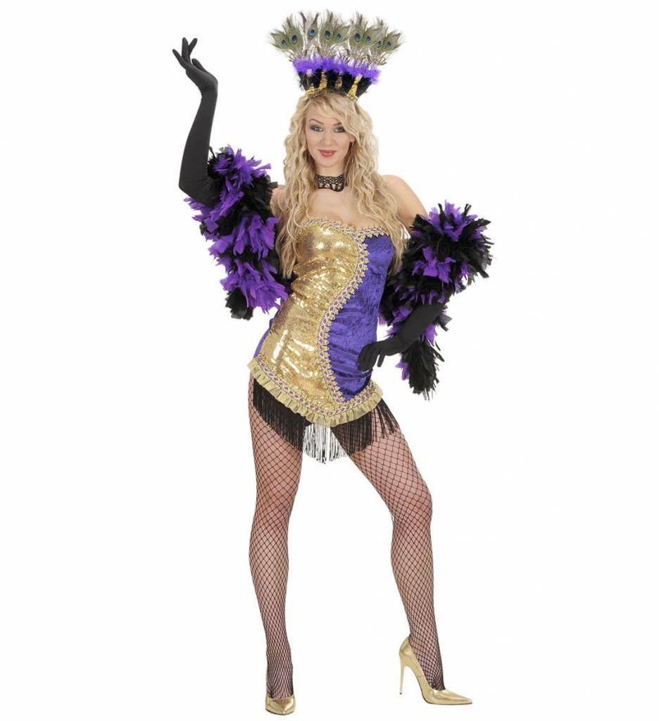 Las Vegas Showgirl Goud/Paars