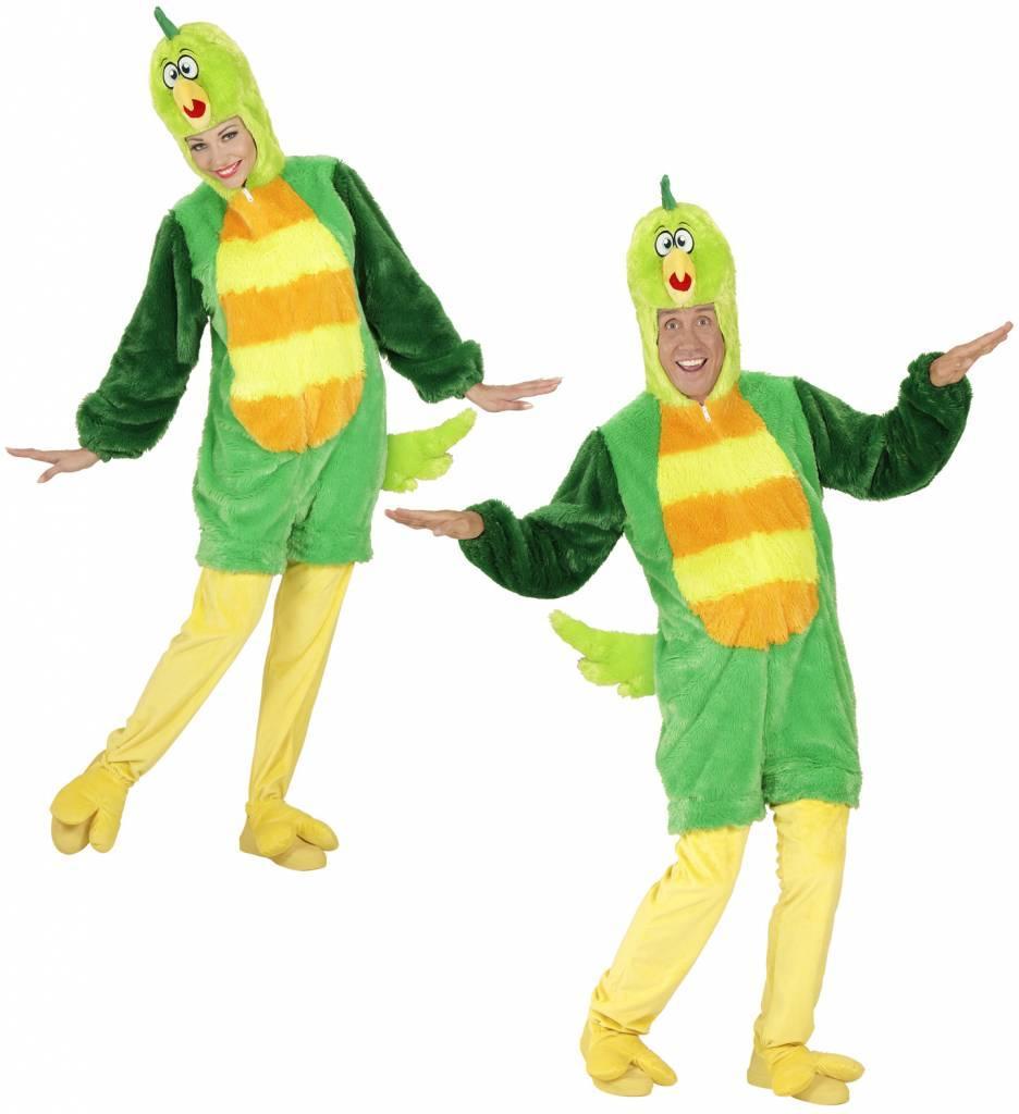 Pluche Groene Vogel Kostuum