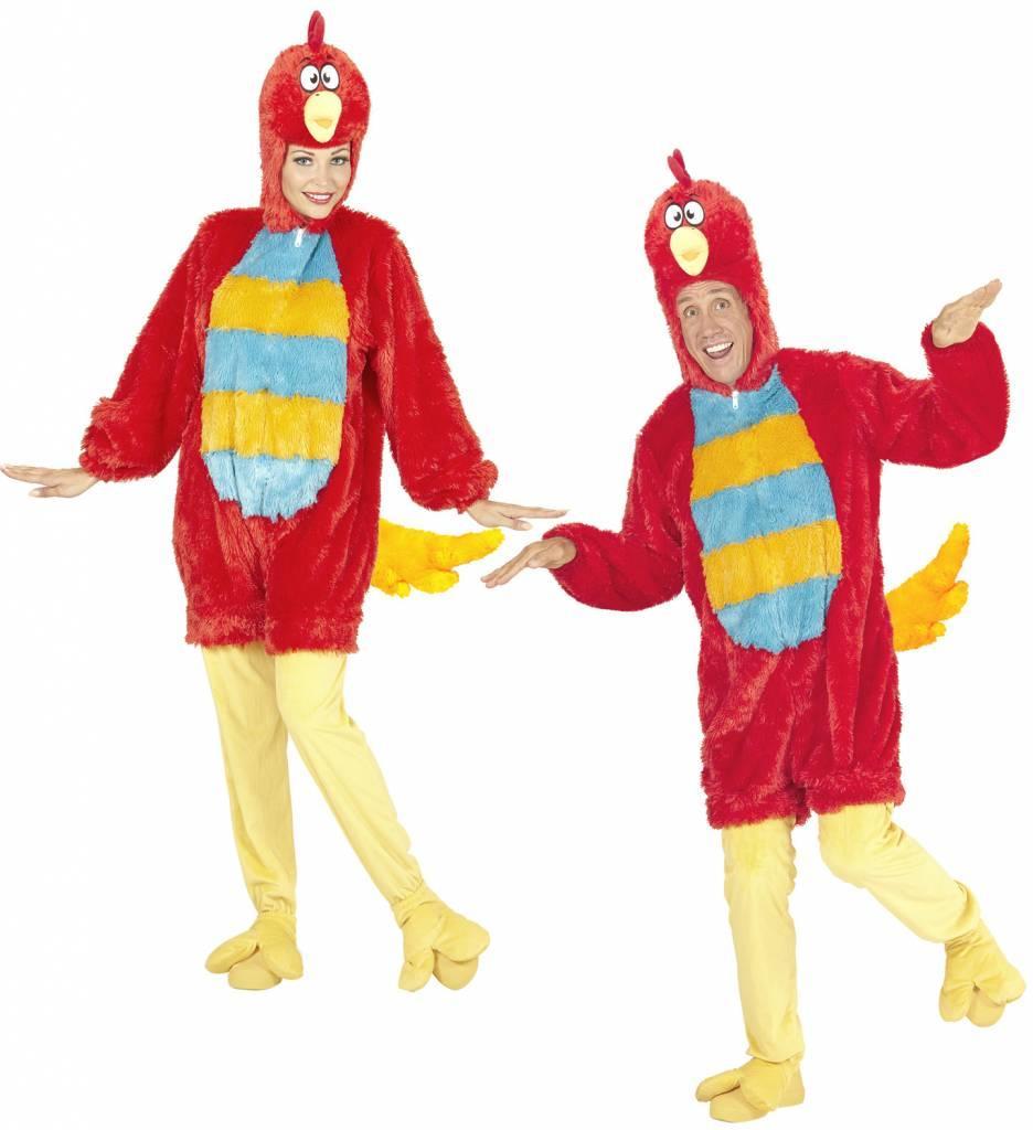 Pluche Rode Vogel Kostuum