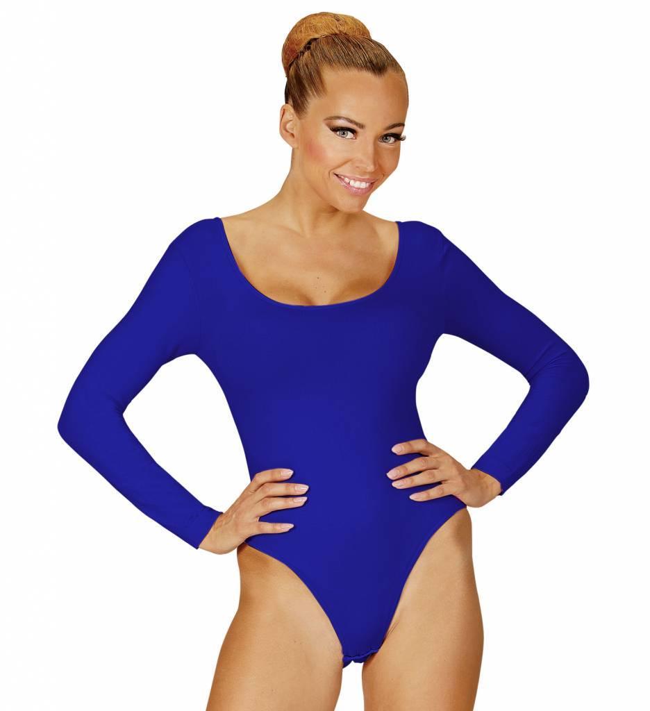 Body Volwassen Met Knoopsluiting Blauw