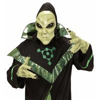 Alien Masker Met Kap En Bolle Ogen Kind