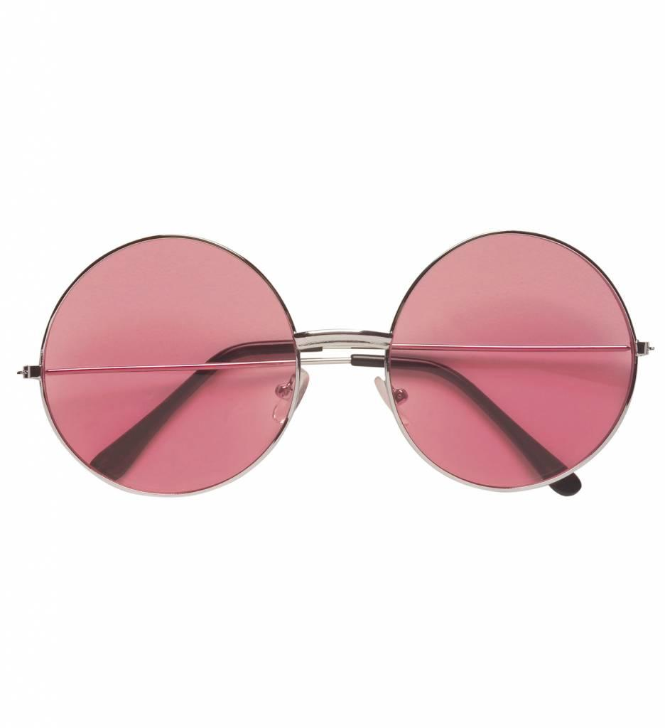 Bril 70'S Roze Glas