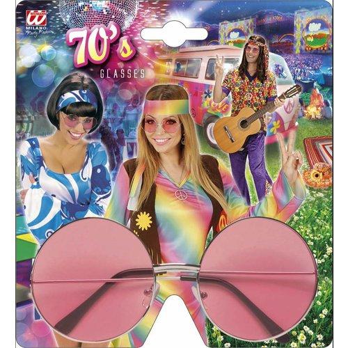 Widmann Bril 70'S Roze Glas