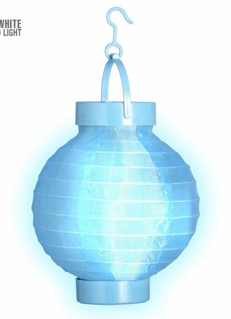Lampion met licht 15, blauw