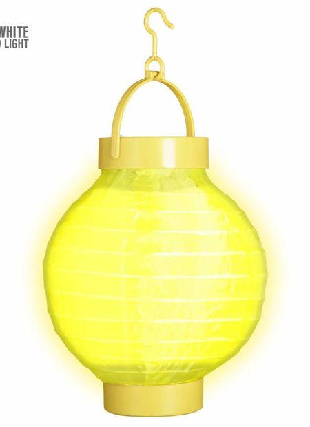 Lampion met licht 15, geel