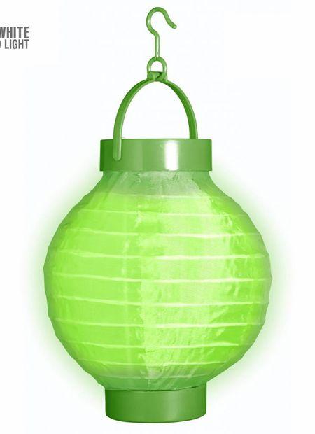 Lampion met licht 15, groen