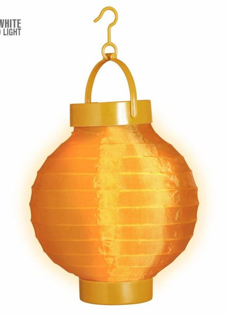 Lampion met licht 15, oranje