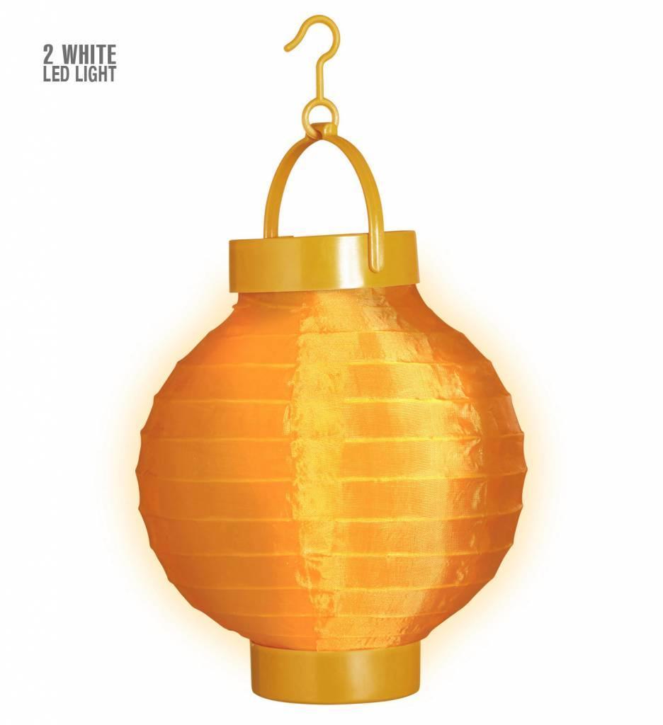 Lampion Met Licht 15 Oranje