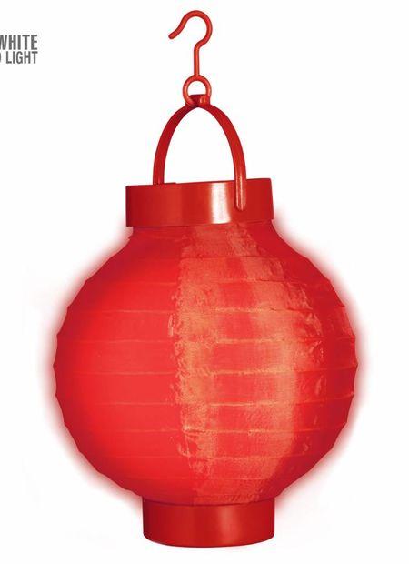Lampion met licht 15, rood