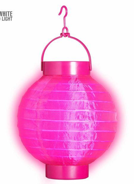 Lampion met licht 15, rose