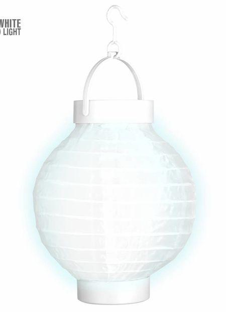 Lampion met licht 15, wit