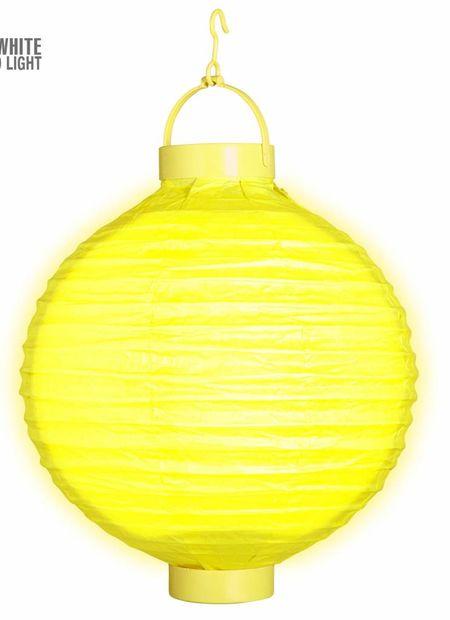 Lampion met licht 30, geel