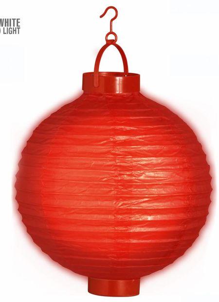 Lampion met licht 30, rood