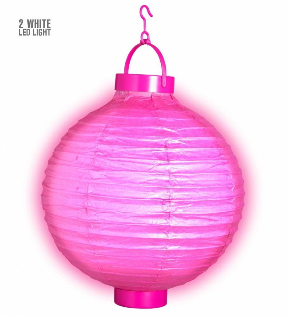 Lampion Met Licht 30 Roze
