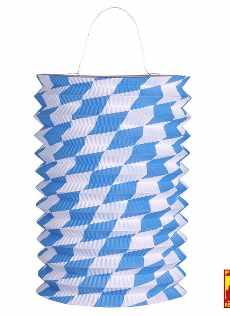 Lampion wit/blauw, bv