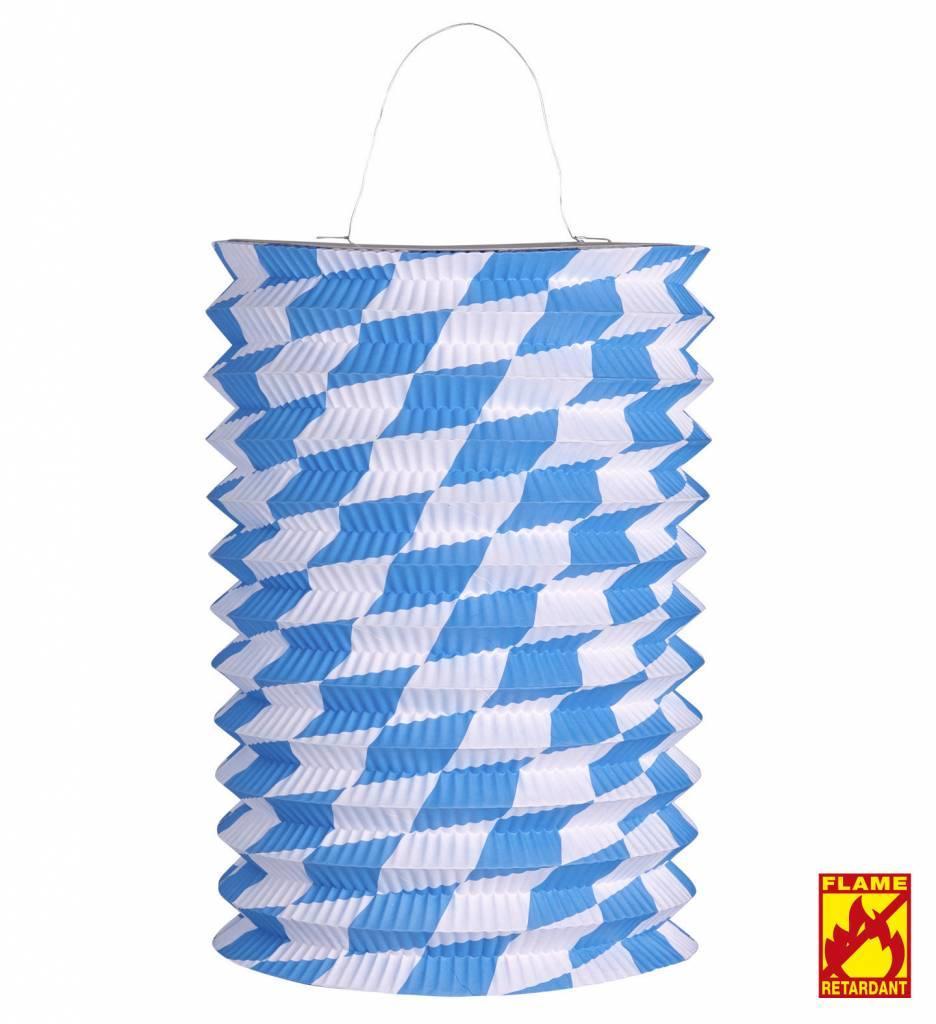 Lampion Wit/Blauw Bv