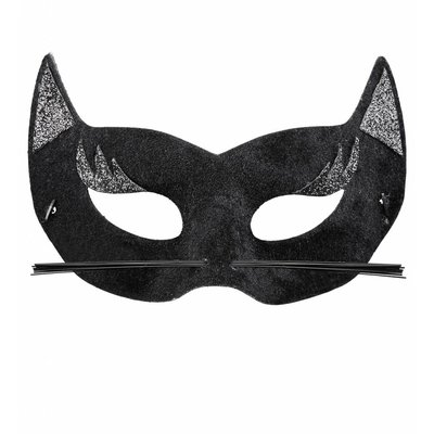 Oogmasker Fluweel Zwarte Panter Met Glitters