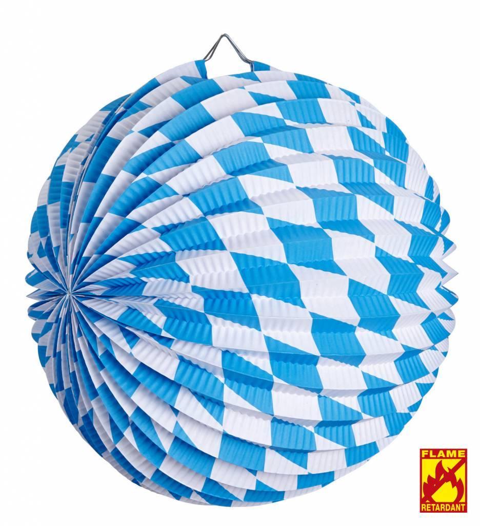 Papieren Bal Wit/Blauw Bv