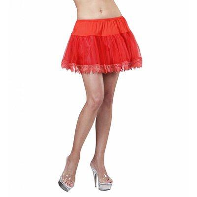 Petticoat Rood Met Franje
