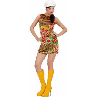 60'S Mode Meisje Fluweel Met Muts