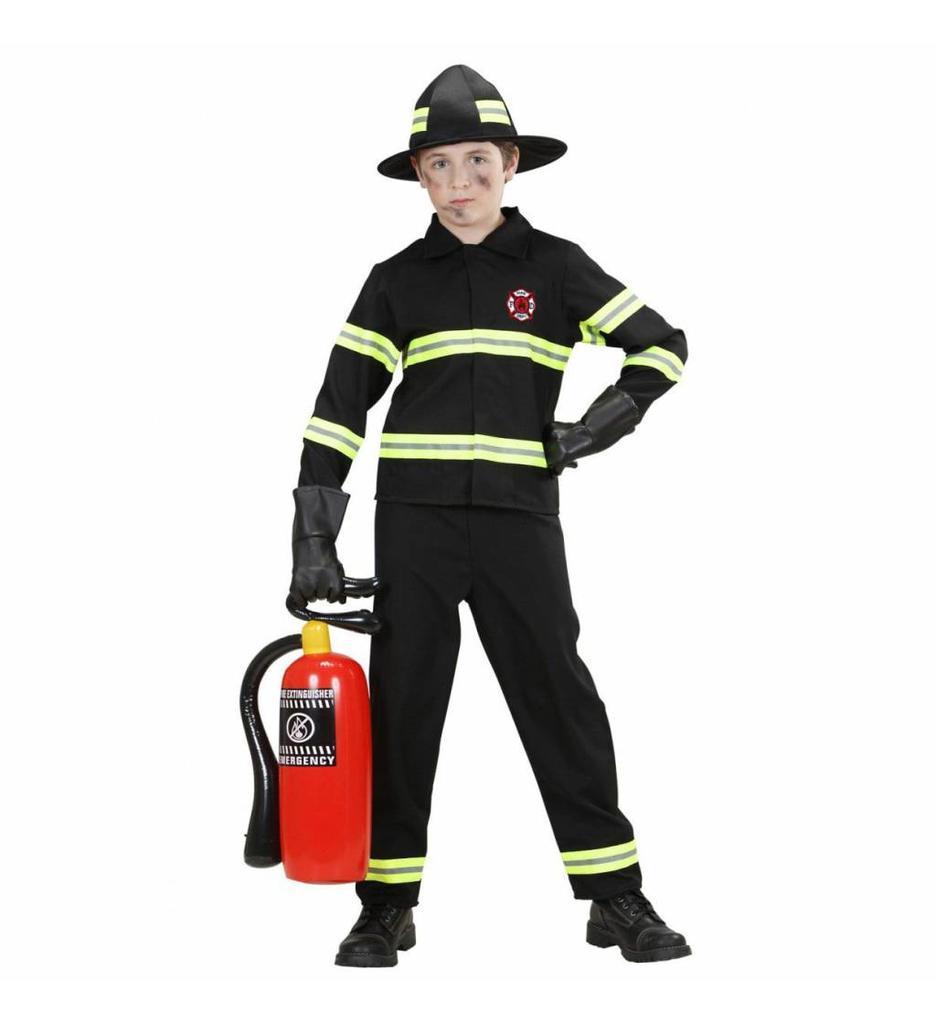 Brandweerjongen Zwart