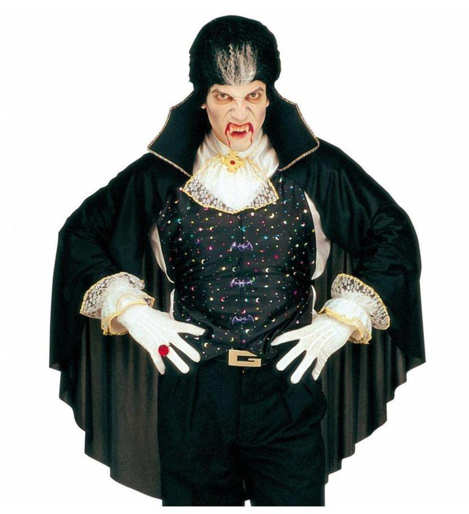 Verkleedset Vampiervest Met Cape