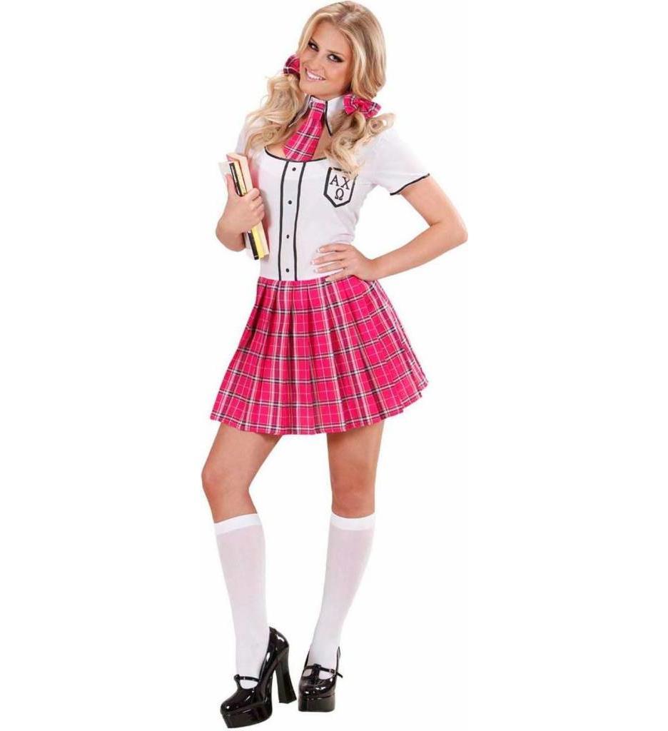 Schoolmeisje Roze